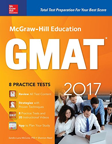 McGraw-Hill education GMAT 2017 : 8 practice tests